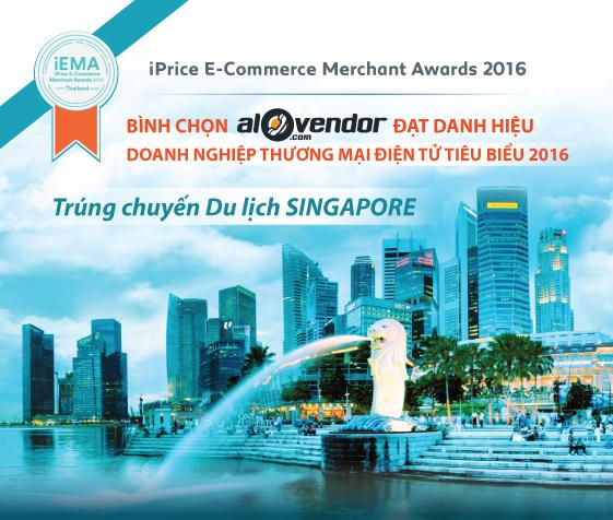 Bình chọn doanh nghiệp TMĐT Tiêu biểu 2016 trúng chuyến du lịch Singapore