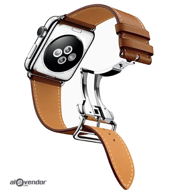 Apple Watch Single Tour Deployment Buckle Leather Strap