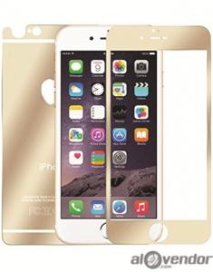 Dán cường lực iPhone 6 Plus mạ vàng 2 mặt
