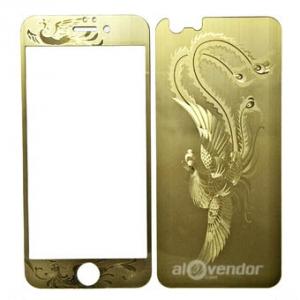 Dán cường lực Phụng vàng iPhone 5s 2 mặt