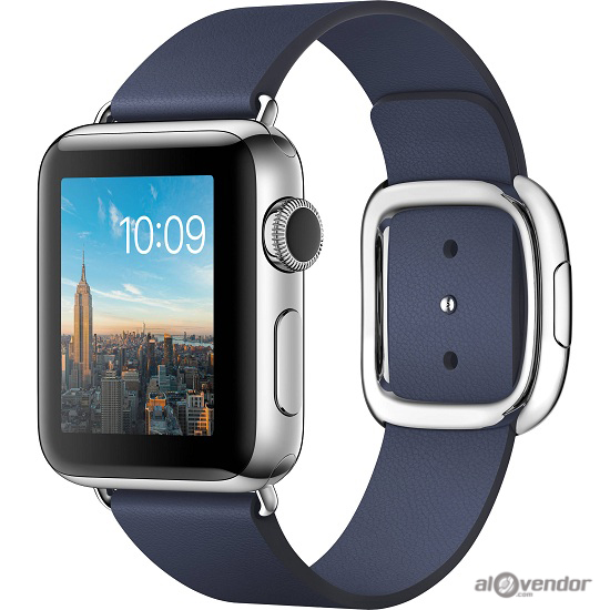 Apple Watch Series 2 Stainless Steel Case with Midnight Blue Modern Buckle 38mm