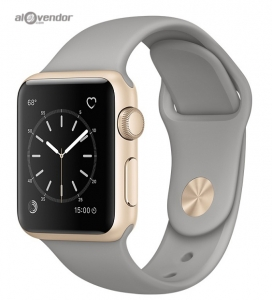 Apple Watch Series 2 Gold Aluminum Case with Concrete Sport Band 38mm