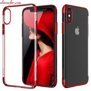 Ốp lưng iPhone X đỏ trong suốt BASEUS