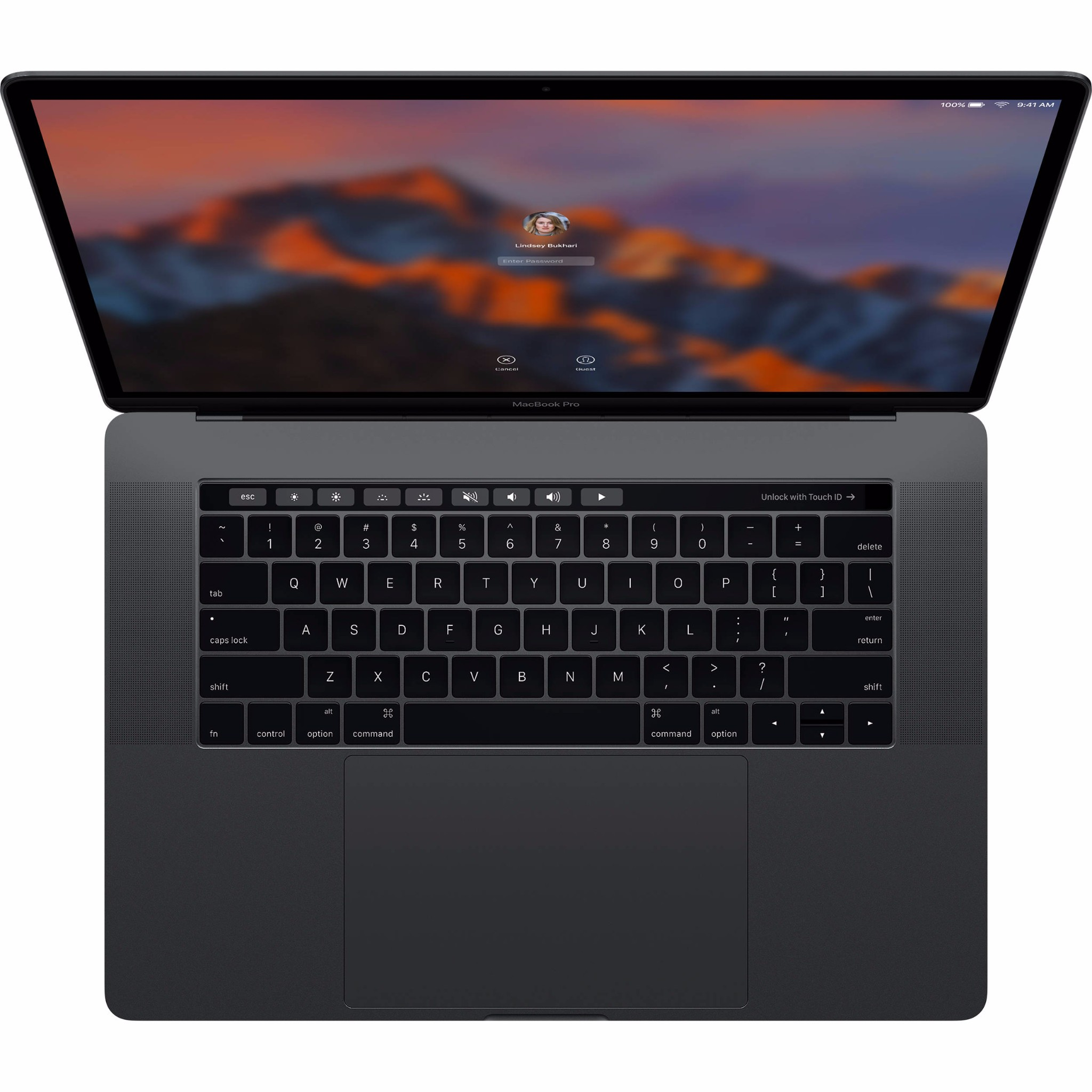 MacBook Pro 15in Touch Bar MPTR2 Space Gray 2017