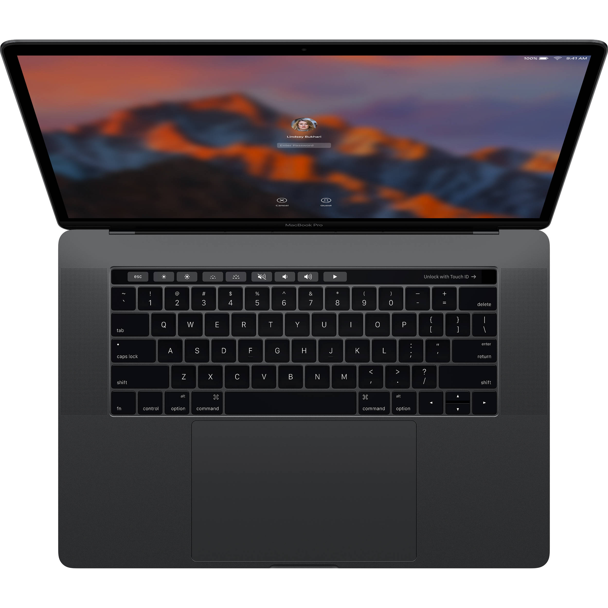 MacBook Pro 15in Touch Bar MPTT2 Space Gray 2017