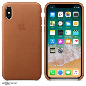 Ốp Apple iPhone X da nâu
