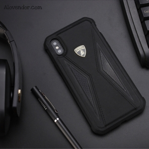 Ốp iPhone X Lamborghini Carbon leather