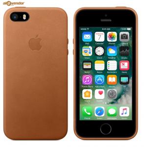 Ốp lưng da iPhone SE nâu