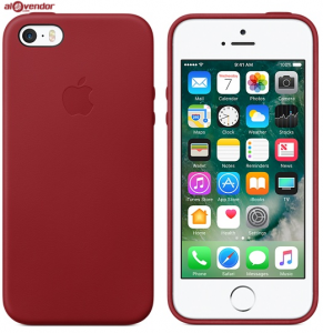 Ốp lưng da iPhone SE đỏ