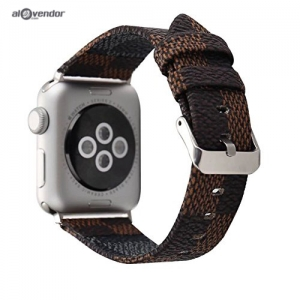 Dây Apple Watch Da Nâu LV