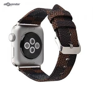 Dây Apple Watch Da Nâu LV