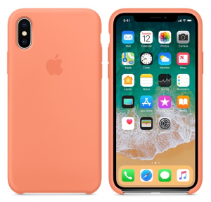 iPhone X Silicone Case Peach