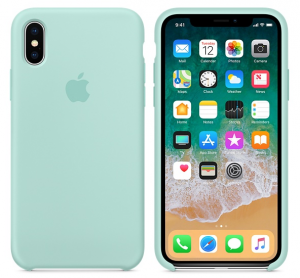 iPhone X Silicone Case Marine Green