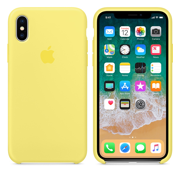 iPhone X Silicone Case Lemonade