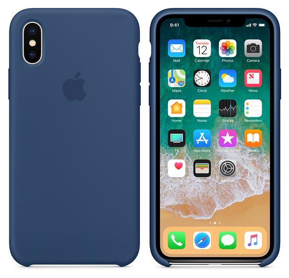 iPhone X Silicone Case Blue Cobalt
