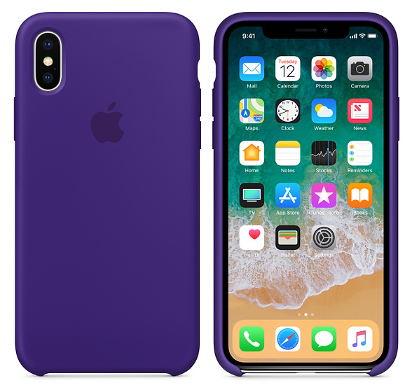 iPhone X Silicone Case Ultra Violet