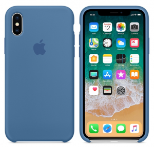 iPhone X Silicone Case Denim Blue