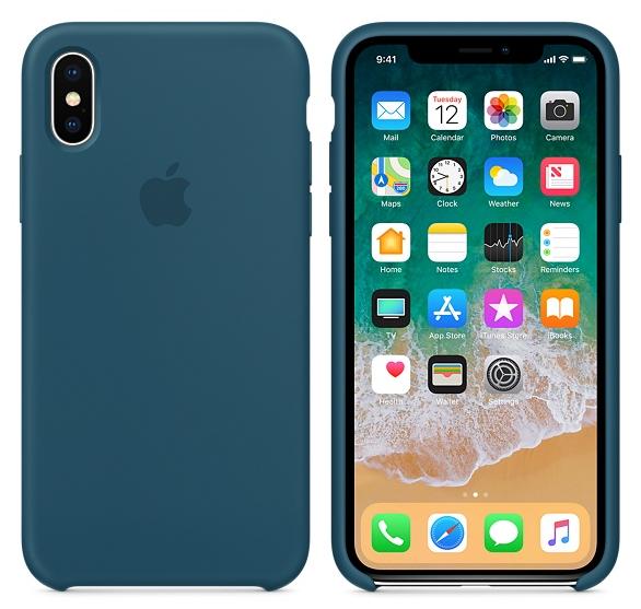 iPhone X Silicone Case Cosmos Blue
