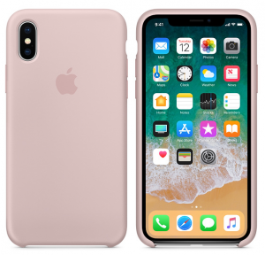iPhone X Silicone Case Pink Sand