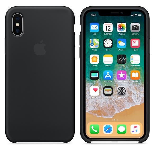 iPhone X/XS Silicone Case Black Replica