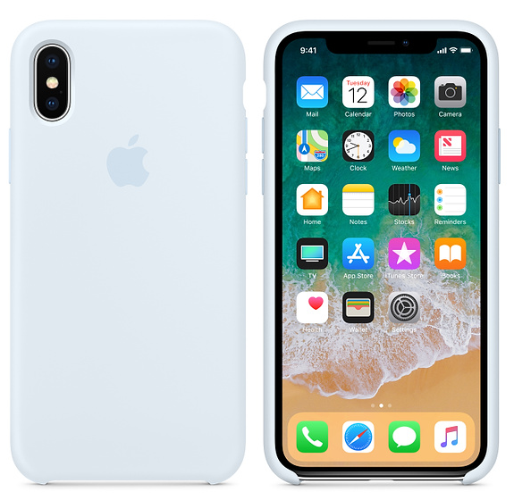iPhone X Silicone Case Sky Blue