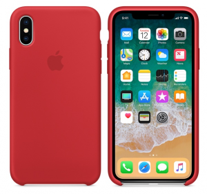 iPhone X Silicone Case Product Red