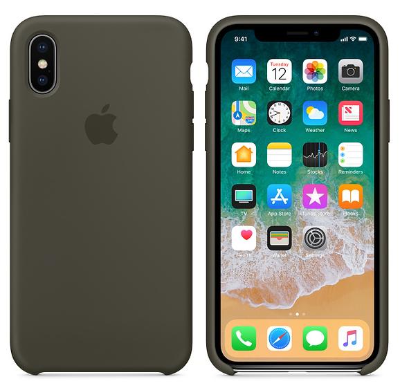 iPhone X Silicone Case Dark Olive