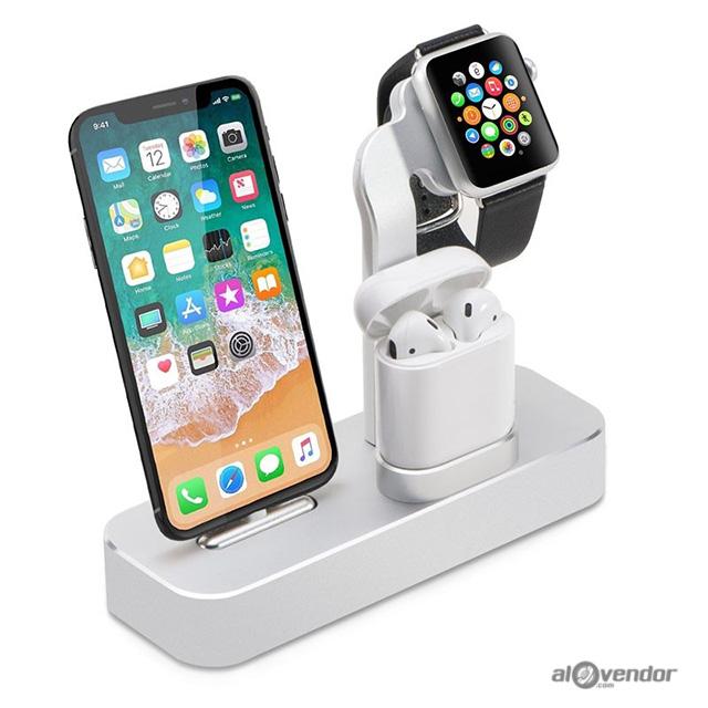 Dock sạc 3 trong 1 Apple Watch iPhone AirPods