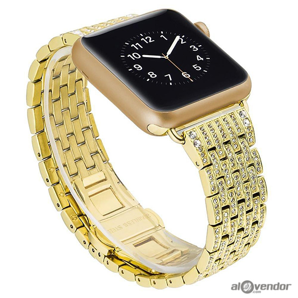 Dây Apple Watch Swarovski Gold