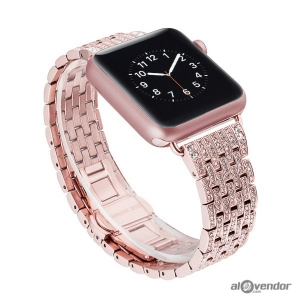 Dây Apple Watch Swarovski Rose Gold