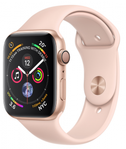 Apple Watch Series 4 Gold Aluminum Case with Pink Sand Sport Band 40mm