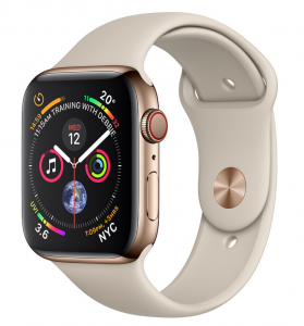 Apple Watch Gold Stainless Steel Case with Stone Sport Band 44mm