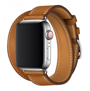 Dây Apple Watch Hermès Fauve Barenia Leather Double Tour