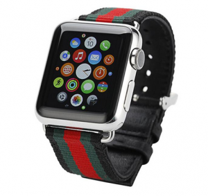 Dây Apple Wacth Stripe GUCCI Pattern Sport Đen