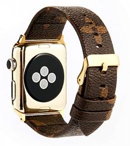 Dây Apple Watch LV khoá vàng
