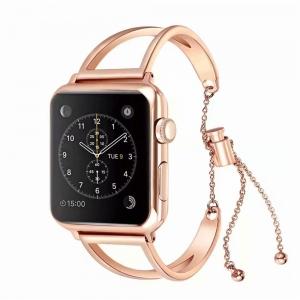 Dây Apple Watch thép lắc hồng