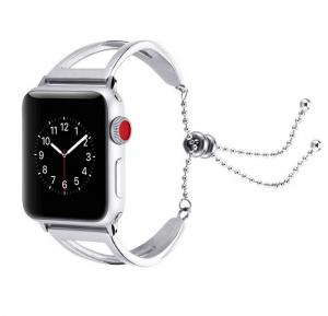 Dây Apple Watch thép lắc bạc