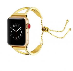 Dây Apple Watch thép lắc vàng