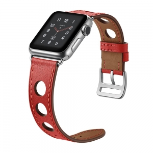 Dây Apple Watch HERMES Rallye đỏ