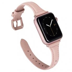 Dây Apple Watch Da bản nhỏ ROSE PINK