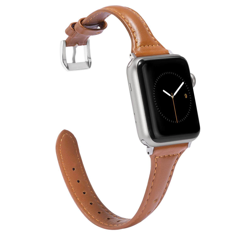 Dây Apple Watch Da bản nhỏ BROWN