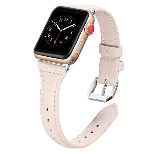 Dây Apple Watch Da bản nhỏ NUDE