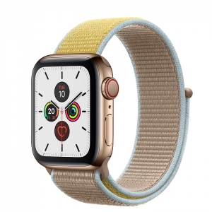 Apple Watch Series 5 Gold Stainless Steel Case with Sport Loop
