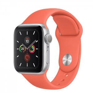 Apple Watch Series 5 Silver Aluminium Case with Sport Band
