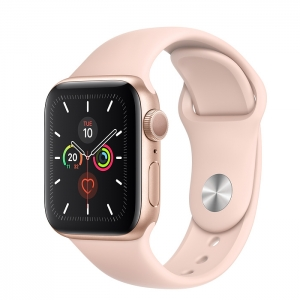 Apple Watch Series 5 Gold Aluminium Case with Sport Band 40MM
