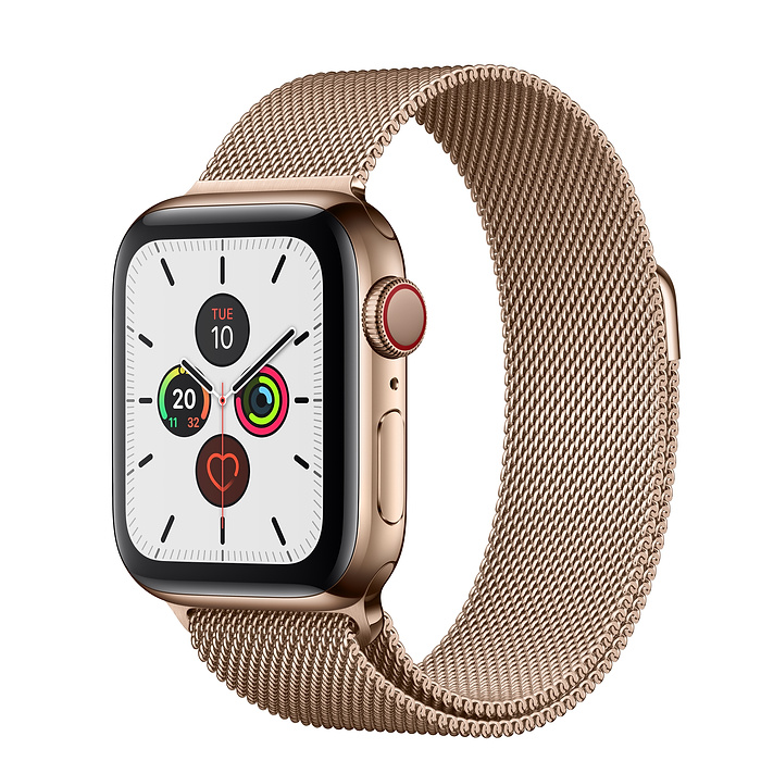 Apple Watch Series 5 Gold Stainless Steel Case with Milanese Loop 40MM