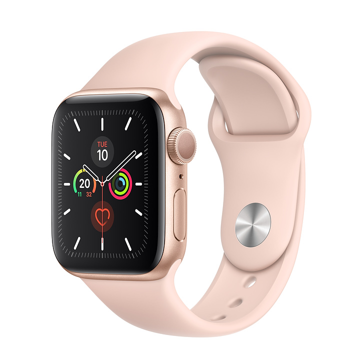Apple Watch Series 5 Gold Aluminium Case with Sport Band 44MM