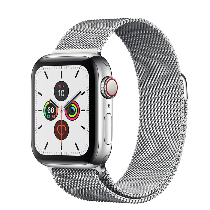 Apple Watch Series 5 Stainless Steel Case with Milanese Loop 44MM