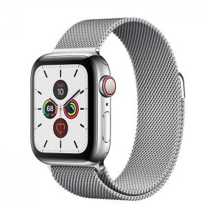 Apple Watch Series 5 Stainless Steel Case with Milanese Loop 44MM