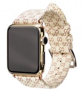 Dây Apple Watch GUCCI trắng kem